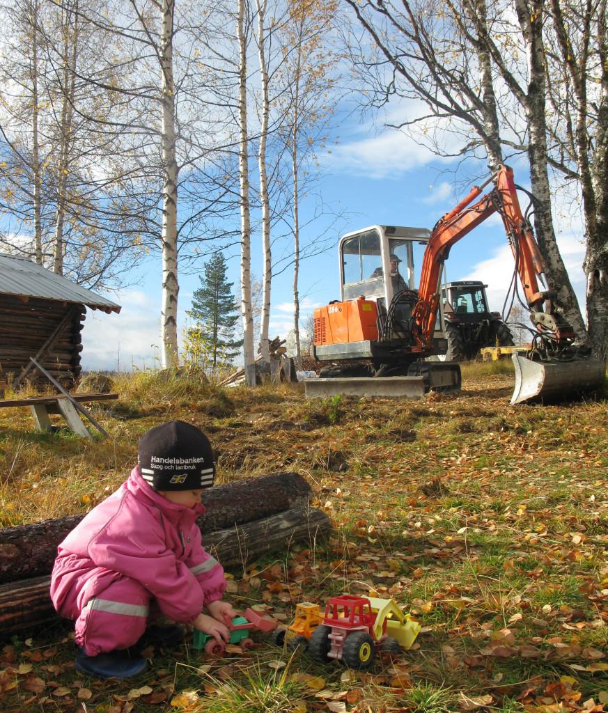 grävning lerberg 6 okt 015