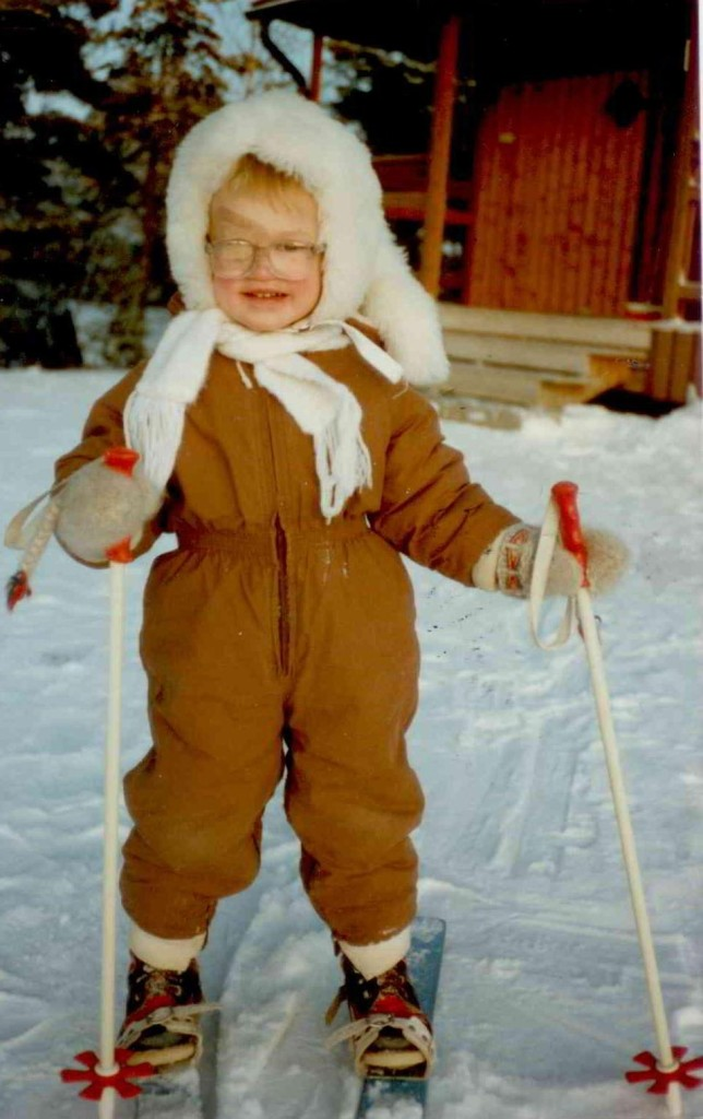 Heidi skidåkare 3 år