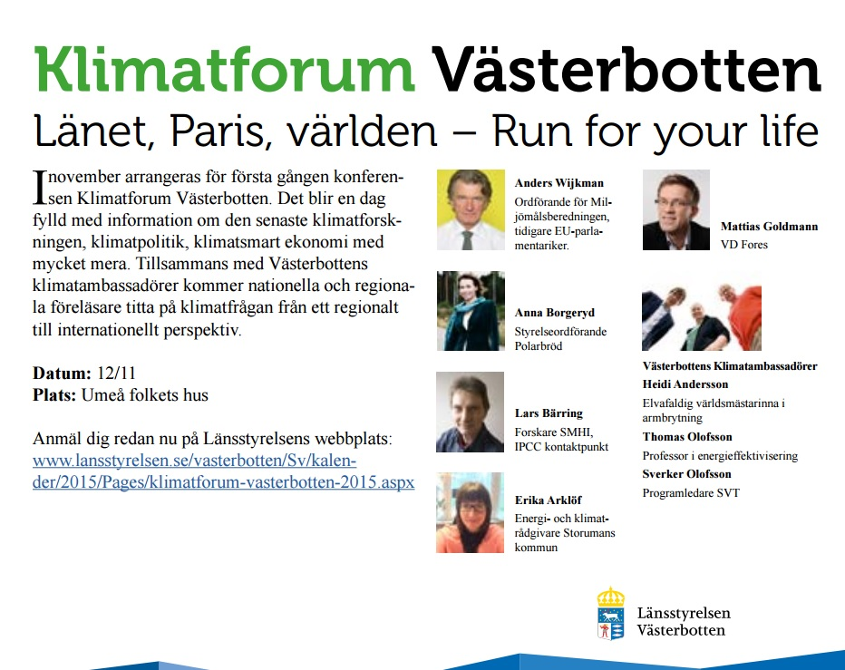 Klimatforum 12 nov